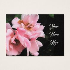 Delicate Pink Roses Business Card - flowers floral flower design unique style