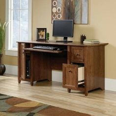 Wood Computer Desk Office Home Cherry Laptop Executive Workstation Furniture New #DevineBestBuys #Missioncraftsman