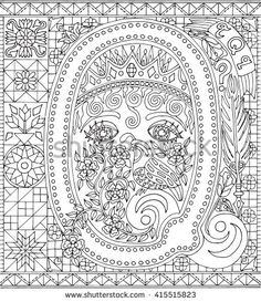 Alphabet Letter Q Adult Coloring Book Fantasy Sheet For Relaxation Therapy Pattern PagesAdult