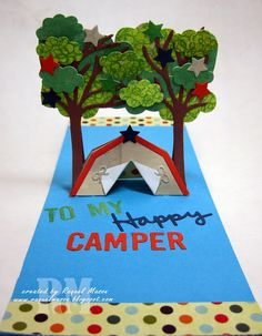 The Dining Room Drawers: Karen Burniston's August Designer Challenge - Tent Scene Pop it Ups Card