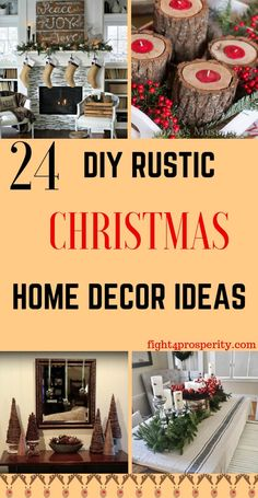 24 Easy DIY Rustic Christmas Decoration Ideas On a Budget. These farmhouse home decor ideas for Christmas are easy and cheap. If you love to give your home a comfy rustic look then check out these DIY Rustic Christmas Home Decor. Diy Christmas Decorations For Home, Farmhouse Christmas Decor, Rustic Christmas, Simple Christmas, Christmas Home, Christmas Crafts, Christmas Ideas, Merry Christmas, Holiday Fun