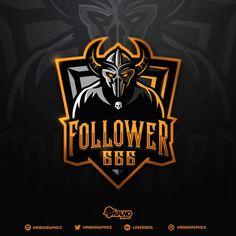 Gaming Logo, Warrior Logo, Esports Logo, Sports Team Logos, E Sport, Cartoon Logo, Logo Design, Graphic Design, Cool Logo