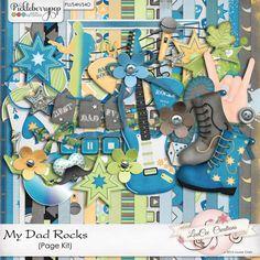 My Dad Rocks Page Kit #louceecreations #digiscrap #digitalscrapbooking
