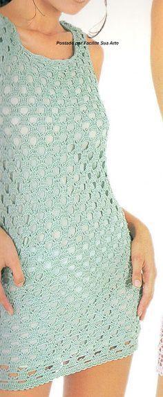 Facilite Sua Arte: Vestido 7 - Verde água para verão