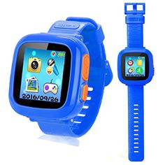 YNCTE Kids Smart Watch Waterproof Phone Smartwatch GPS Tracker Phone Watch Games Camera Touch Screen, Electronic Learning and Education Toys Watch Gifts for Girls Boys Children(Blue) Best Kids Watches, Cool Watches, Smartwatch, Toys For Girls, Gifts For Girls, Kids Electronics, Waterproof Phone, Game & Watch, Vintage Cameras