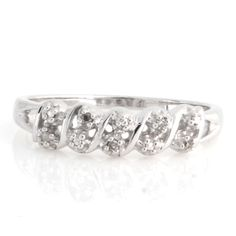 Sterling Silver Round Natural Diamond New Designer Ring size 7 O161 #AffinityJewelry #DesignerRing