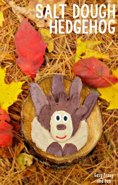 Mommy and Me Salt Dough Hedgehog Craft - Easy Peasy and Fun Fall Arts And Crafts, Easy Fall Crafts, Crafts For Kids To Make, Fun Crafts, Simple Crafts, Autumn Activities For Kids, Animal Crafts For Kids, Animal Activities, Hedgehog Craft