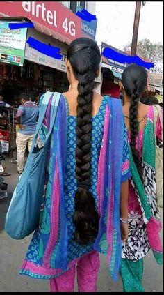 Saree Hairstyles, Indian Hairstyles, Girl Hairstyles, Braided Hairstyles, Long Silky Hair, Very Long Hair, Long Hair Ponytail, Braids For Long Hair, Beautiful Braids