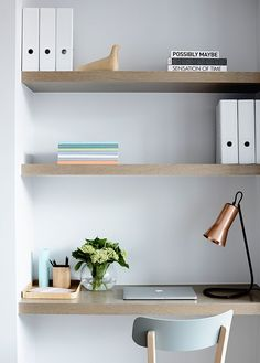 Minimalist, organic home office. #love #interior