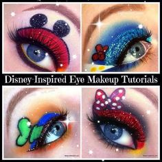 Ok i would wear make up for this! Disney-Inspired Makeup of Mickey and Friends Disney Inspired Makeup, Disney Makeup, Cute Makeup, Simple Makeup, Easy Makeup, Spooky Halloween, Halloween Makeup, Fairy Make-up, Disney Character Makeup