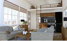 Nyckelfärdigt - Lugnet :: 25hus AB Tiny House, Divider, Abs, Loft, Inspiration, Furniture, Houses, Home Decor, Biblical Inspiration