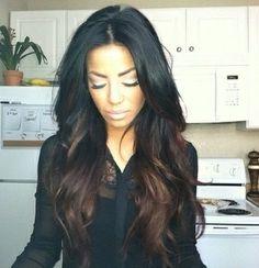 #ombre #brunette #haircolor #trends