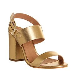 Paige, gold block heel sandal by Miss KG Kurt Geiger | Shoes ...