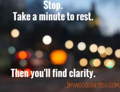 Rest is needed.