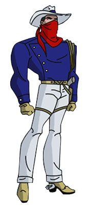 """Vigilante-O primeiro Vigilante, Greg Saunders 1 , um típico cowboy americano que nos quadrinhos participou dos Sete Soldados da Vitória. Ele não possui nenhum superpoder, mesmo assim luta contra supervilões com seus dois revólveres Colt, uma corda e uma motocicleta vermelha e branca. Apareceu logo no primeiro número da mini-série """"7 Soldados da Vitória"""", onde luta ao lado de 5 heróis menores contra o exército Sheeda."""