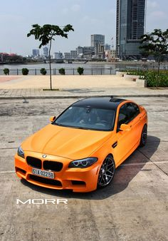 Matte Orange BMW F10 M5′s On Morr Wheels