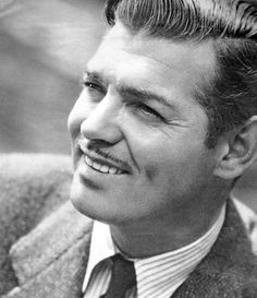 I don't believe any woman is telling the truth if she ever worked with Gable and did not feel twinges of a sexual urge beyond belief. Old Hollywood Stars, Hollywood Actor, Golden Age Of Hollywood, Vintage Hollywood, Classic Hollywood, Hollywood Couples, Clark Gable, Moustache, Carole Lombard