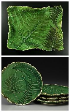 Fern inspired. I want to learn to make pottery and I will use ferns to decorate every piece!