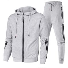 Lutratocro Men Pants Vogue Big and Tall Sports Coat Two Pieces Tracksuit Set