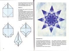 "Photo from album ""Transparente Fenstersterne"" on Yandex. Origami Paper Folding, Paper Crafts Origami, Origami Easy, Diy Paper, Origami Stars, Origami Flowers, Paper Flowers Diy, Origami Bird, Christmas Origami"