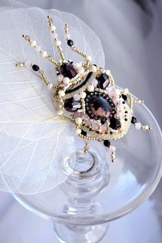Beetle brooch READY to ship Nature jewelry by BeadedNatureJewelry, €100.00