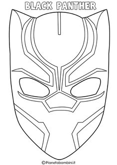 Discover recipes, home ideas, style inspiration and other ideas to try. Black Panther Party, Black Panther Marvel, Black Panther Face, Black Panther Drawing, Imprimibles Harry Potter, Puppets For Kids, Mask Template, Hulk, Superhero Birthday Party