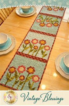 Vintage Blessings Table Runner Kit - August