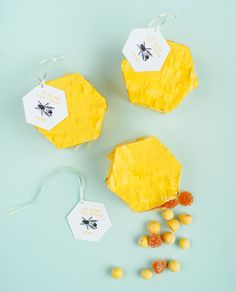DIY Hexagon Pinata Favors | Oh Happy Day!