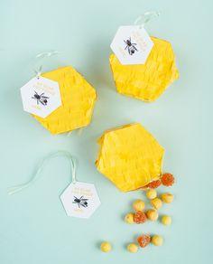 DIY Hexagon Pinata Favors | Oh Happy Day!