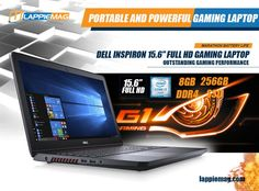"Dell Inspiron 15.6"" Full HD Gaming Laptop (7th Gen Intel Quad Core i5-7300HQ, 8 GB RAM, 256GB SSD, NVIDIA GeForce GTX 1050) (i5577-5335BLK-PUS) Metal Chassis Best Gaming Laptop, Coolest Gadgets, Best Laptops, Quad, How To Find Out, Core, Games, Metal, Best Laptop Computers"