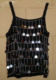 d2dc080c52321 Joseph A NEW Sweater Tank Top Beaded Sequin Embellished Black Silver LARGE  Sweater Tank Top
