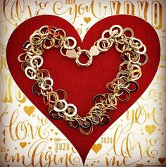 Love can make you loopy! A lively jumble of this multi-circle link bracelet is a great way to express that, Item no. 792009