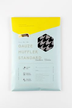 Gauze Muffler Standard, by Grand Deluxe Packaging Box Design, Paper Packaging, Brand Packaging, Branding Design, Package Design, Brochure Design, Packaging Inspiration, Cv Inspiration, Web Design