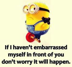 That is so me!! I always act like a fool and embarrass myself.!! LOL!! I am crazy!! ~Ashley Renee~