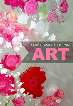 to make your own floral art! So simple! Love this!How to make your own floral art! So simple! Love this! Diy Artwork, Diy Wall Art, Pop Art Bilder, Creation Deco, Arte Floral, Learn To Paint, Art Techniques, Diy Painting, Art Tutorials