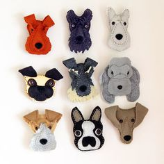 Handmade Felt Dog Brooch                                                                                                                                                     More