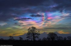 They may look like an Impressionist masterpiece, but these rare nacreous clouds have been spotted 'painting' skies above the UK (Teesdale pictured) in a rainbow of colours. Photographers across the north of England and Scotland have captured the stunning 'mother of pearl' formations which sit in the lower stratosphere