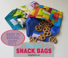 BACK TO SCHOOL - DIY reusable snack bags