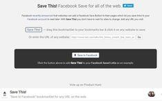 Save to Facebook: bookmarklet para guardar webs y contenidos en Facebook