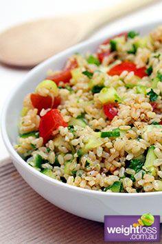 Brown Rice Salad. #HealthyRecipes #DietRecipes #WeightLossRecipes weightloss.com.au