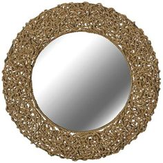 "Kenroy Home Seagrass 33"" Round Rope Wall Mirror - COOL!!! Find @ lampsplus.com"