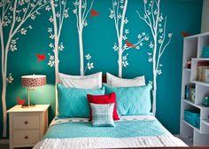 Bedroom Loft Teen Bedroom Features Pencil Sketch Wall Decor With ...