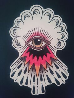 The black eye -13 #handmade #third #eye #oldschool #oldschooltattoo #traditional #traditionaltattoo