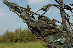 Irish famine memorial (ghost ship)  Westport, Ireland