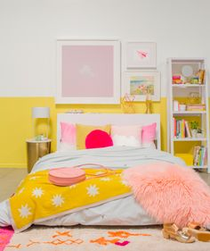 Yellow & Pink bedroom. Don't be afraid to use color! / via Oh Joy!