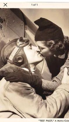 """Test Pilot"" kiss... (Clark Gable and Myrna Loy, MGM)"