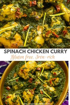 Saag murgh or spinach chicken curry is a delicious curry in which marinated chicken is pan-seared and cooked in a gravy made of spinach and spices. The spinach also adds to the nutritional value of this curry. Marinated Chicken Healthy, Healthy Chicken Recipes, Cooking Recipes, Oven Recipes, Sweets Recipes, Lunch Recipes, Delicious Recipes, Easy Recipes, Keto Recipes