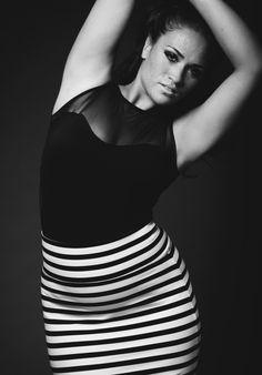 Black and white Stripes- curvy fashion