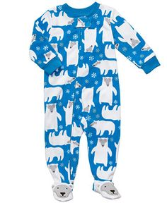 Carter's Baby Sleepwear, Baby Boy Polar Bear Fleece Sleeper - Kids Newborn Shop - Macy's