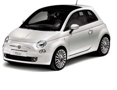 Classy, elegant and chic! I say that this is the perfect car for an elegant beautiful lady to get around the city in style with an educated ecological interest in mind! White Fiat 500